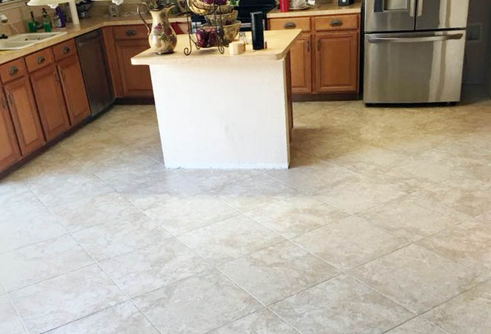 tile work in kitchen