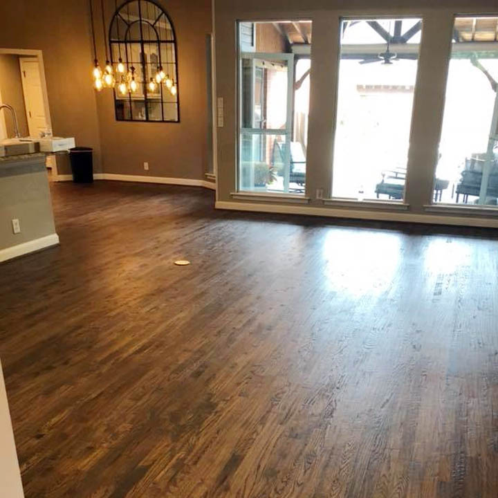 hardwood flooring in large room
