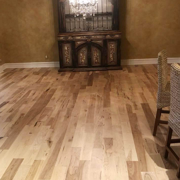 hardwood flooring dining room