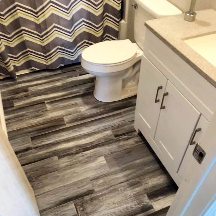 laminate bathroom floor