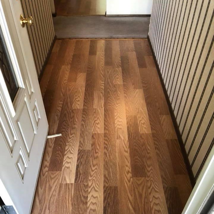 laminate flooring entryway door