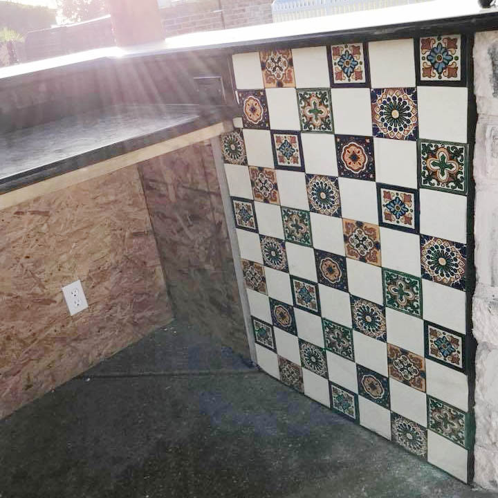 custom outdoor tile mural